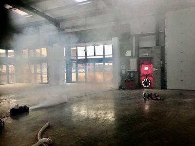 Air Tightness Testing with Smoke